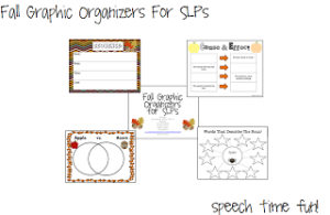 Fall Graphic Organizers for SLPs!