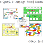 Superhero Speech & Language Game Boards!