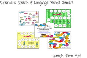 Superhero Speech & Language Game Boards!