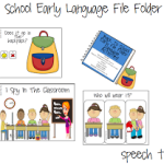 Back To School Early Language File Folder Activities! ((AND GIVEAWAY!!))