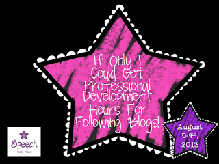 If Only I Could Get Professional Development Hours For  Following Blogs: PHONOLOGICAL AWARENESS!