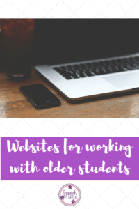 Websites For Working With Older Students