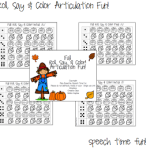 Fall Roll, Say & Color Articulation Fun!