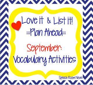 Love It & List It: Vocabulary Activities!