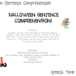 Halloween Sentence Comprehension (FREEBIE!)