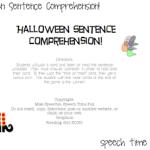 Halloween Sentence Comprehension (FREEBIE!)