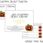 Jack-o-Lantern Object Function Fun! (FREEBIE!)