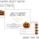 Jack-o-Lantern Object Function Fun! (FREEBIE!)