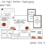 'Twas Night Before Thanksgiving: Companion Pack!