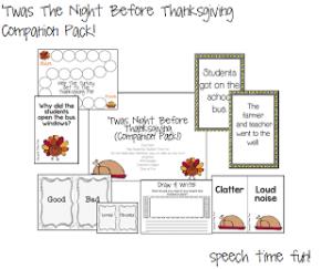 'Twas Night Before Thanksgiving: Companion Pack!