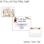 My Fall Storytelling/Writing Guide! (PLUS A WRITING ROUND-UP)
