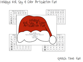 Holidays Roll, Say & Color Articulation Fun! (AND GIVEAWAY!)
