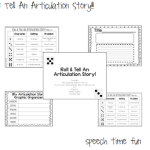 Roll & Tell An Articulation Story!!
