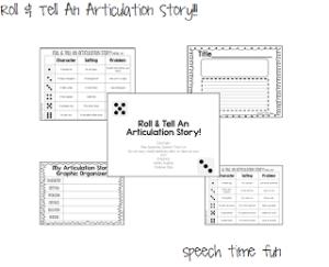 Roll & Tell An Articulation Story!!