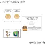 Thankful vs. Not Thankful For Sort!!  FREEBIE!!
