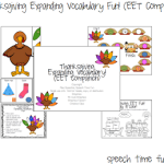 Thanksgiving Expanding Vocabulary Fun! (EET Companion!)