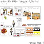 Thanksgiving File Folder Language Activities!