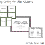 Category Sorting for Older Students!