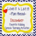 Love It & List It! Linky! (HOLIDAY ACTIVITIES!)