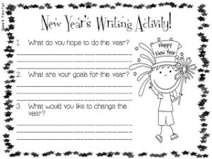 New Year's Writing Activity! (FREEBIE)