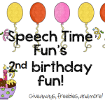 Speech Time Fun's 2nd Birthday Fun!! (giveaways, freebies, and more!)