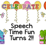 Speech Time Fun's 2nd Birthday Fun!! ((DAY TWO!!)) — Freebie, giveaway, and more!