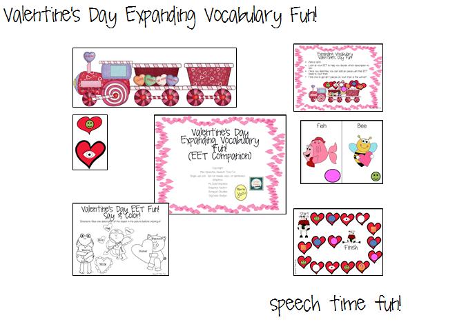 Valentine's Day Expanding Vocabulary Fun (EET Companion)!