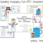 Winter Expanding Vocabulary Fun! (EET Companion Pack!)