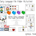 Winter Early Language File Folder Activities!! (AND GIVEAWAY!!)