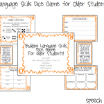 Building Language Skills Dice Game for Older Students!!