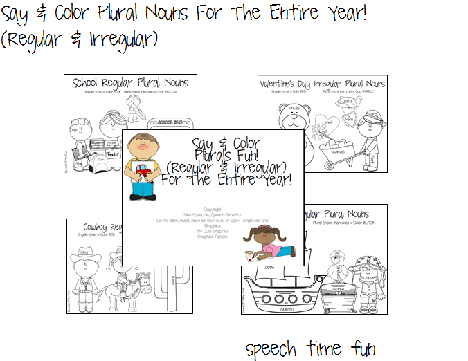 Say & Color Plural Nouns For The Entire Year!! (Regular & Irregular!)