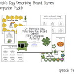 St. Patrick's Day Describing Board Games (EET COMPANION PACK!)
