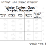 Winter Context Clues Graphic Organizer FREEBIE!