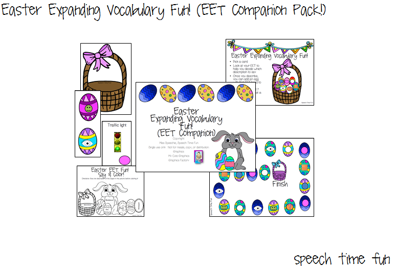 Easter Expanding Vocabulary Fun! (EET Companion Pack!)