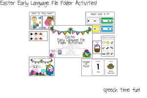 Easter Early Language File Folder Activities!