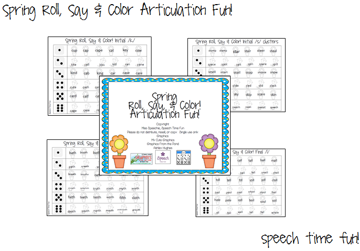 Spring Roll, Say & Color! Articulation Fun!