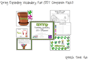 Spring Expanding Vocabulary Fun! (EET COMPANION PACK!)