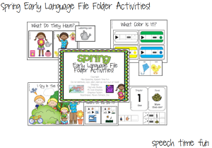 Spring Early Language File Folder Activities!
