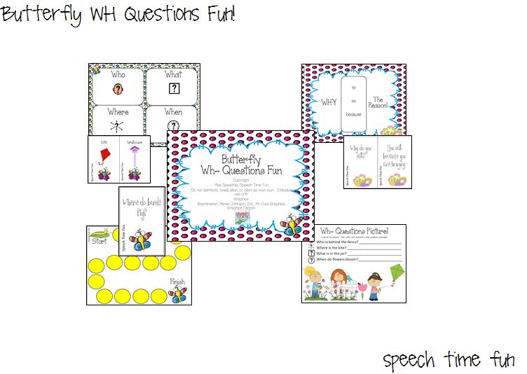 Butterfly WH Questions Fun!!