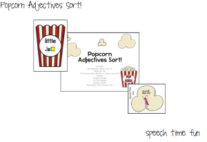 Popcorn Adjectives Sort!