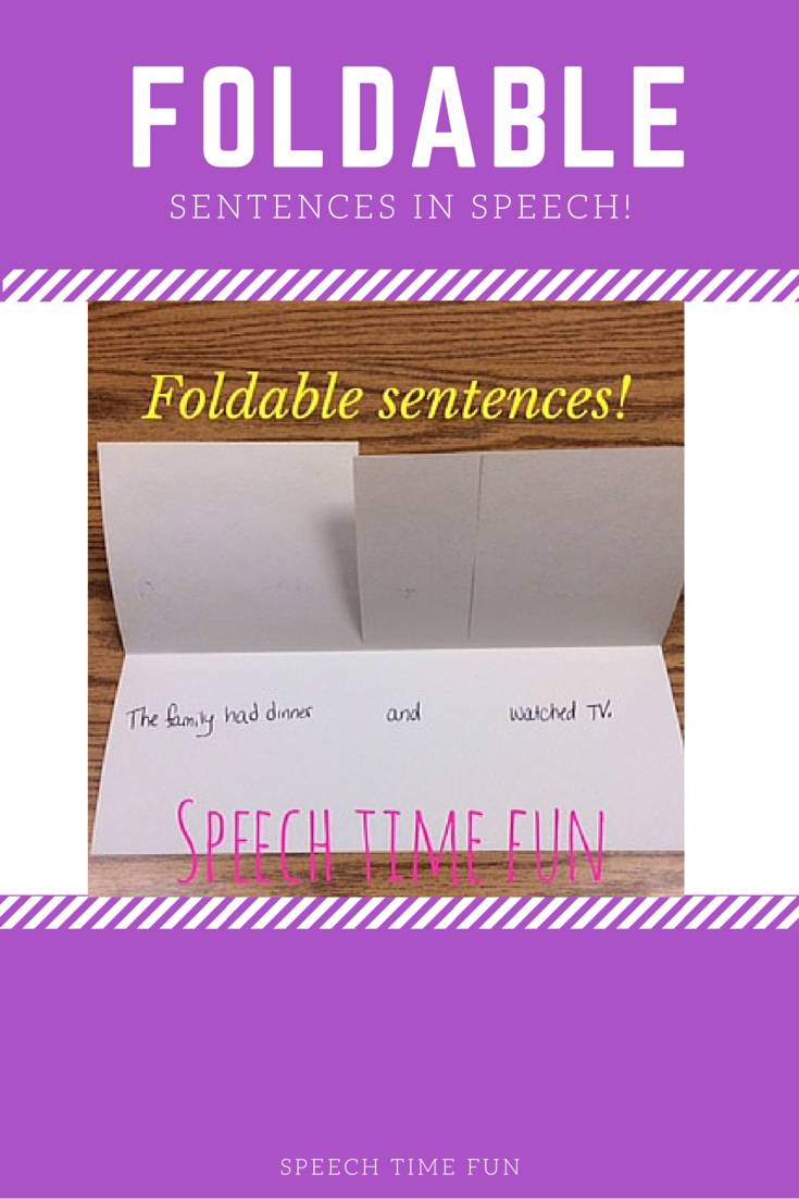DIY Foldable Sentences for Speech!  A fun way to work on sentence structure in speech therapy!