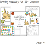 Summer Expanding Vocabulary Fun! (EET Companion)