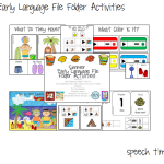Summer Early Language File Folder Activities!