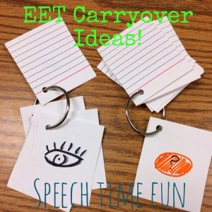 EET Carryover Ideas!!