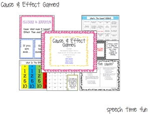 Cause & Effect Games!!