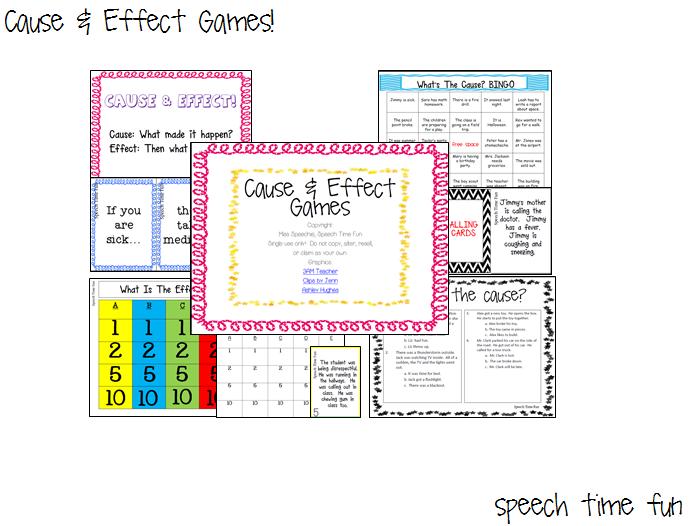 Cause & Effect Games!! - Speech Time Fun: Speech and