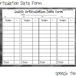 Quick Articulation Data Forms!  (ideas and a freebie!!)