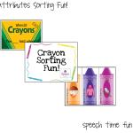 Crayon Attributes Sorting Fun!