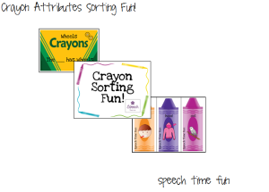 Crayon Attributes Sorting Fun!