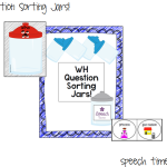 WH Question Sorting Jars!